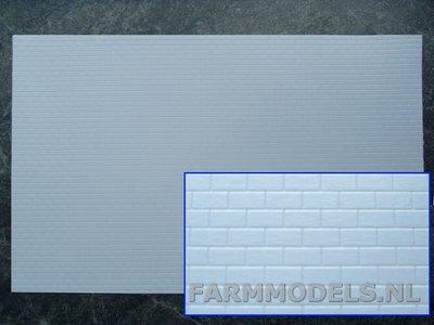 Jtt 97441 1x muur metsel steen modern motief plastic white 19x30 5 cm farmmodels - Modern muur steen ...